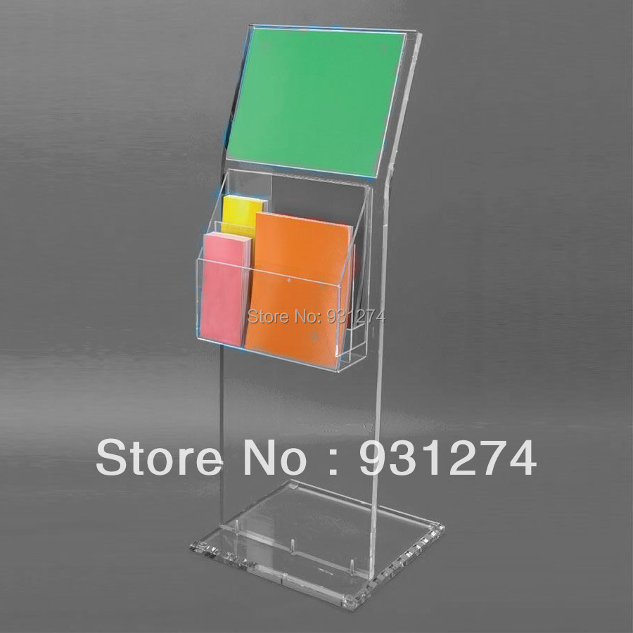 Genial Floor Standing Acrylic Magazine Holder For Office Lobby,Lucite Perspex  Literature Rack In Magazine Racks From Furniture On Aliexpress.com |  Alibaba Group