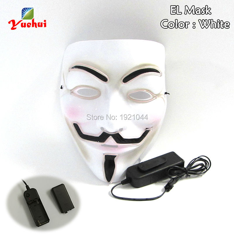 Halloween Carnival mask Glowing products EL Wire Glowing Party Mask ...