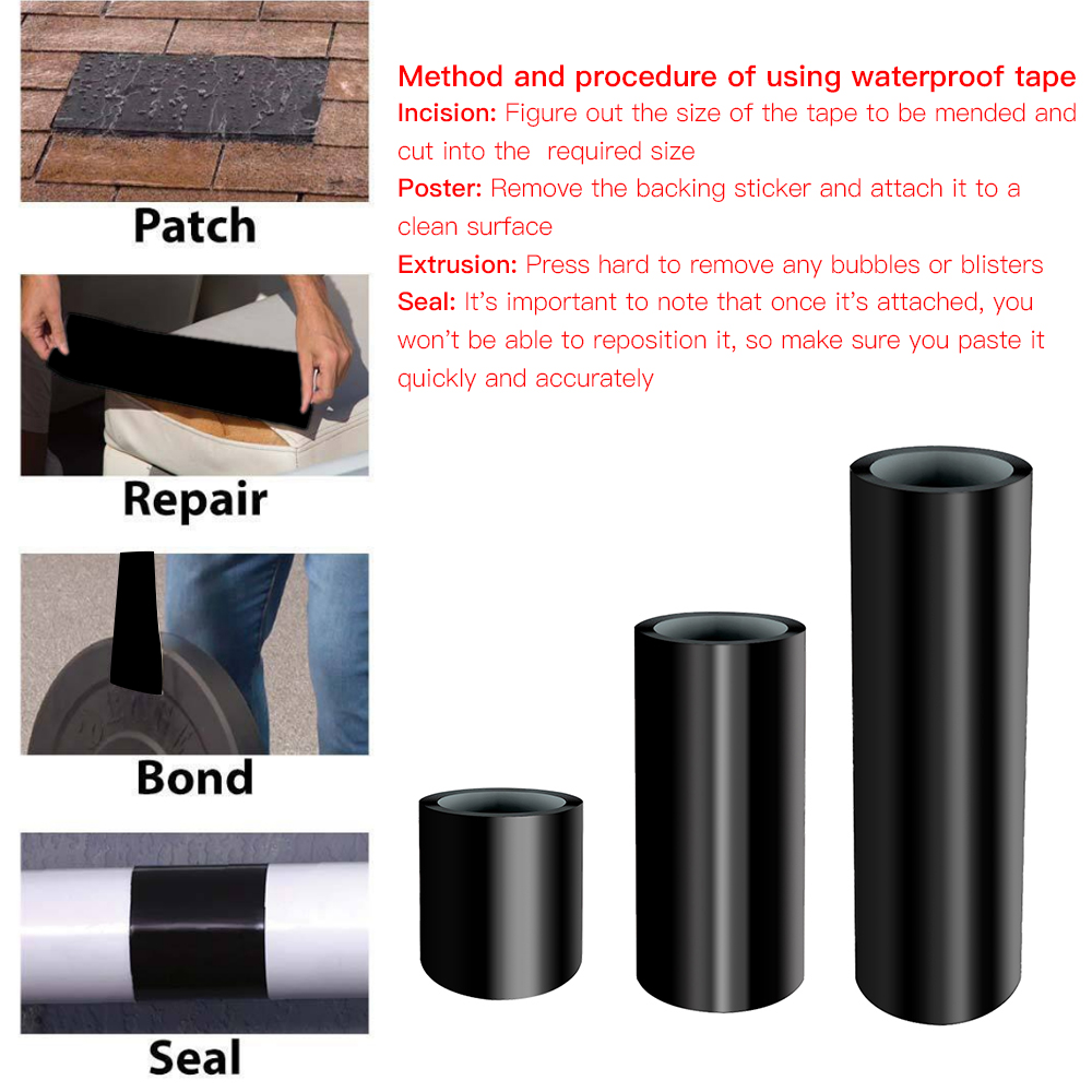 Black Super Strong Sealing Tape for Bathroom Water Taps Hose Pipe Door Window Sealing Tape Waterproof Hose Pipe Seal Tape high temperature resistant p t f e thread seal tape water pipe ptfe thread seal plumbing tape