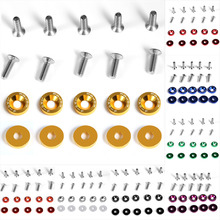 10 Unit Set Universal Car Vehicle Styling Change Password Fender Bumper Stickers Screws Washer Plate Auto