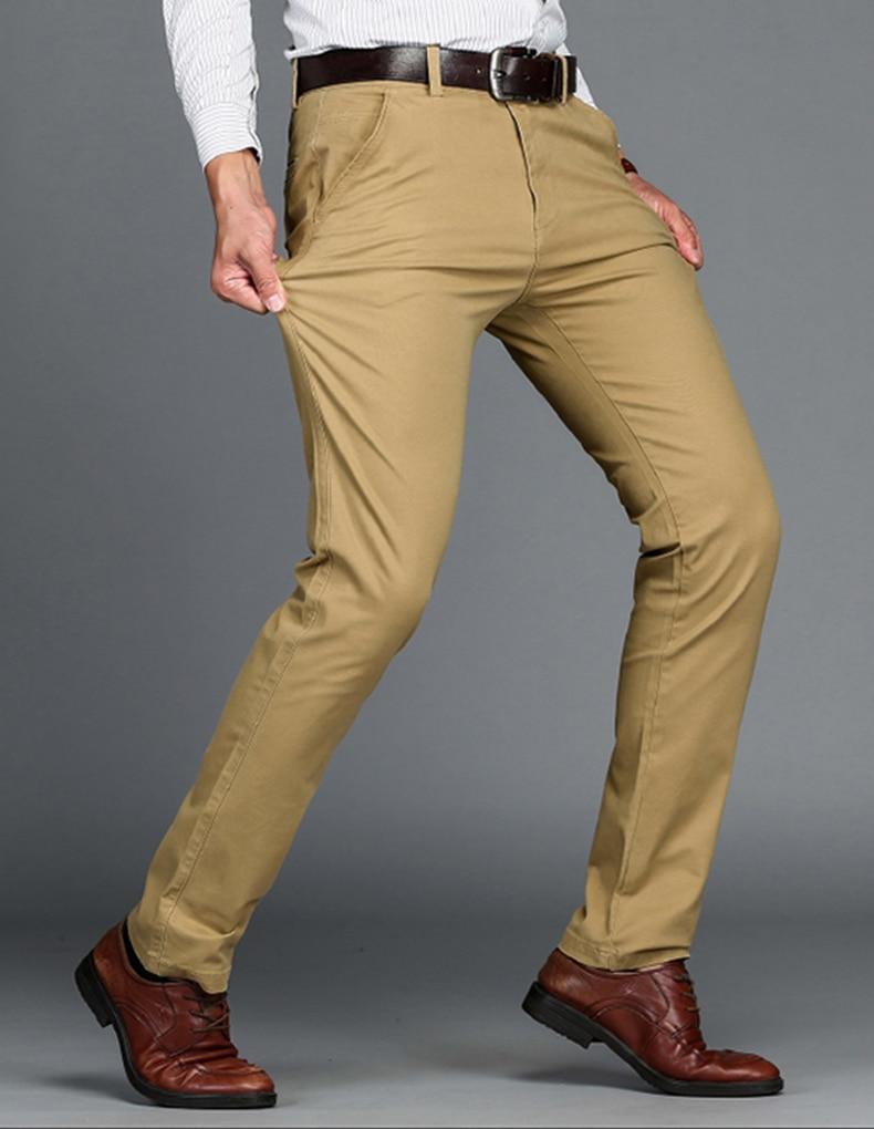 HTB1Z9t6dKuSBuNjSsziq6zq8pXal VOMINT Mens Pants High Quality Cotton Casual Pants Stretch male trousers man long Straight 4 color Plus size pant suit 42 44 46