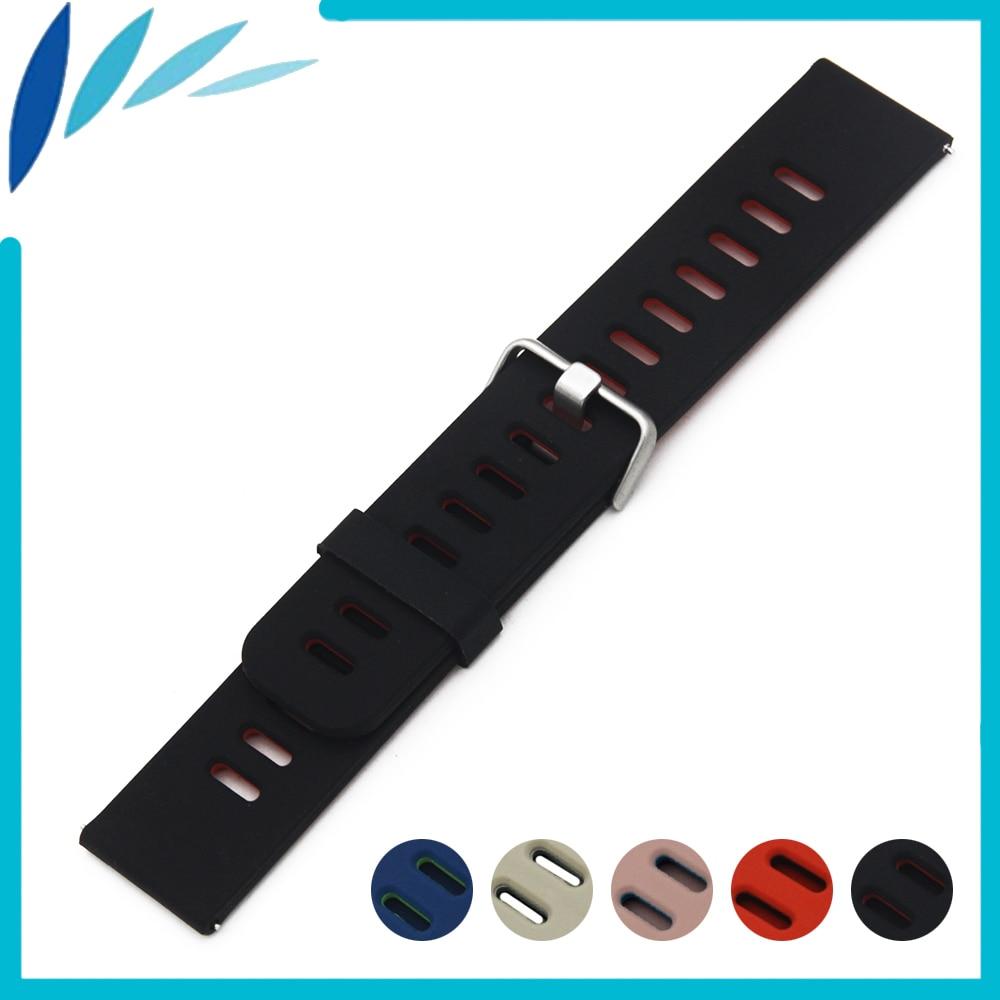 Bracelet de montre en caoutchouc Silicone 22mm pour CK Calvin Klein Bracelet de montre Bracelet de poignet boucle de ceinture Bracelet noir bleu rouge + outil + barre de ressort