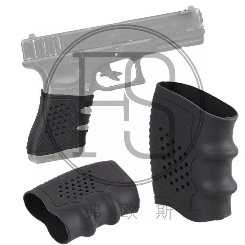 New pistol holster rubber handle non slip gloves for Glock pistol 17 ...