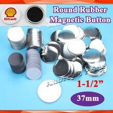 """1-1/"""" 37 мм 100 наборы мягкие резиновые магниты на холодильник материалы для блях для l производитель значков"""