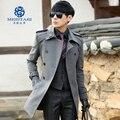 Spike! nueva llegada de la novedad de la alta calidad de los hombres de invierno ropa de abrigo de lana medio-largo engrosamiento de lana Guapo delgado M-3XL