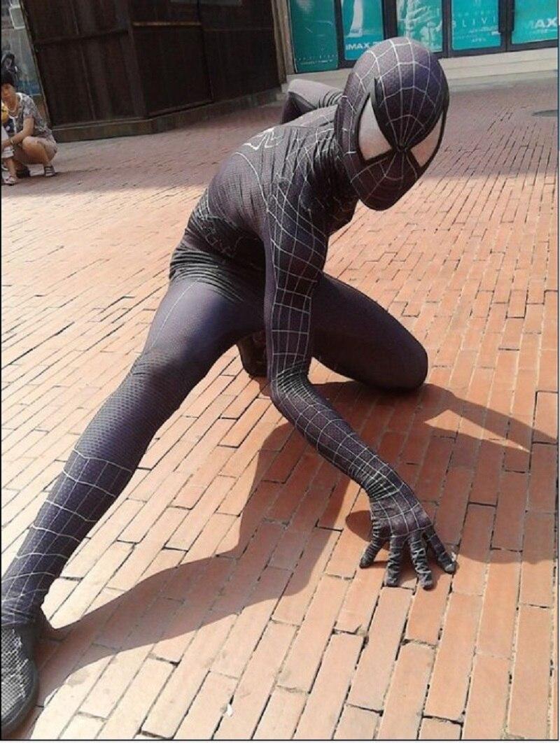 <font><b>Marvel</b></font> Halloween <font><b>Black</b></font> And White <font><b>Spiderman</b></font> <font><b>Costume</b></font> Adult <font><b>Cosplay</b></font> Mask Lens Included
