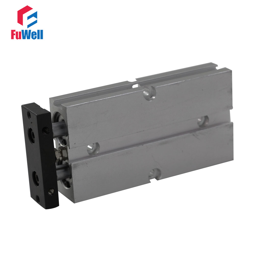Aluminum Alloy Dual Rod TN Type Pneumatic Cylinder 16mm Bore 70/80/100/150mm Stroke Double Action Air Cylinder bb1 детям