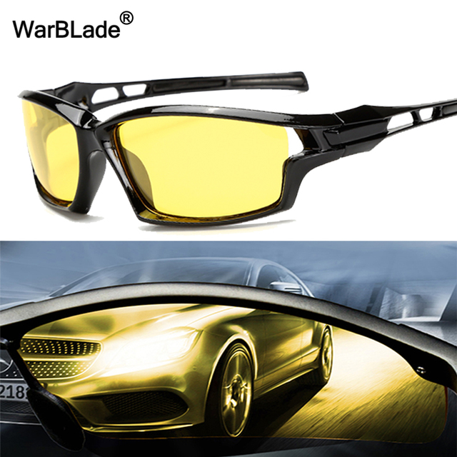 7d0ee96c174 WarBLade New Night Vision Glasses For Polarized Driving Sunglasses Yellow  Lens UV400 Protection Night Eyewear for Driver