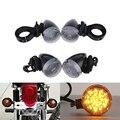 4x lente transparente bala negro ámbar bombilla de luz de señal de vuelta de la motocicleta para honda suzuki yamaha kawasaki harley bobber chopper