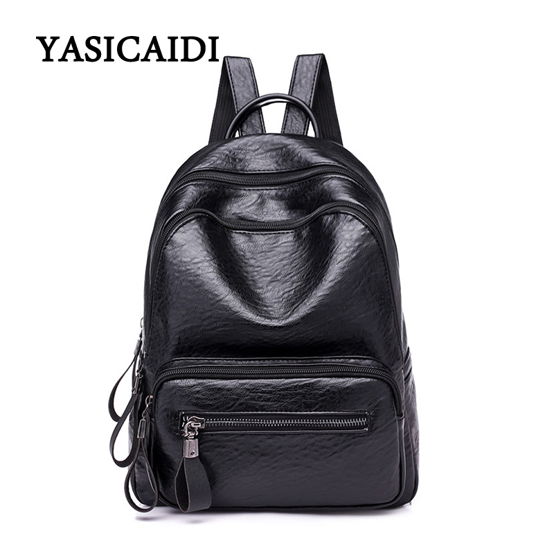 2018 Fashion Women Backpack High Quality PU Leather Backpacks for Teenage Girls Female School Bag Bagpack mochila foroch high quality backpacks for teenage girls women s leather backpack school bag casual vintage capacity travel backpack 156