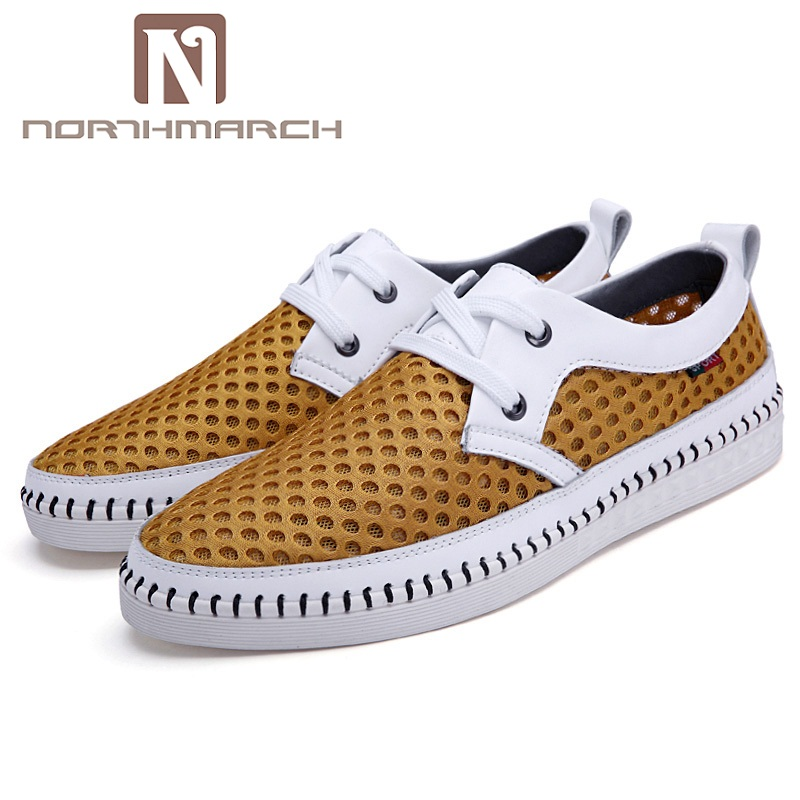 NORTHMARCH Men Shoes 2018 Summer Fashion Sneakers Breathable Casual Shoes Lace Up High Quality Sneakers Men Mesh Shoes Trainer