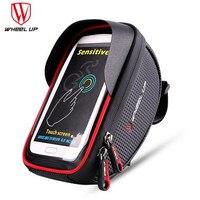 WHEEL UP Waterproof Bike Saddle Bag Front Touch Cycling Top Tube Frame Handlebar Bag For 6