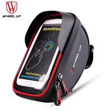 цена на WHEEL UP Waterproof Bike Saddle Bag Front Touch Cycling Top Tube Frame Handlebar Bag For 6.0 In Cell Phone Bycicle Accessories