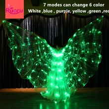 Ruoru 7 modes Belly dance led isis wings change six color stage performance props accessories 360 degree