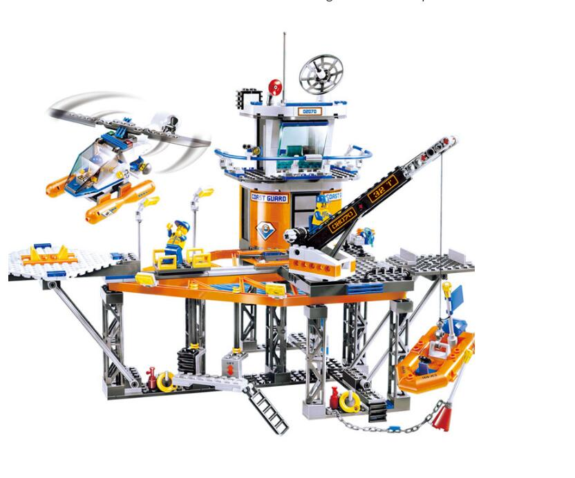 New Relax Coast Guard City Platform City CITY Series Compatible with  4210 Assembled Building Blocks lepin Toys 02070 lepin 02070 492pcs city series coast guard model building blocks bricks toys for children gift
