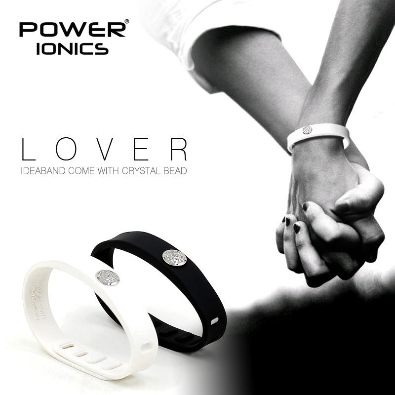 Power Ionics CRYSTAL LOVER IDEA BAND 4in1 Multifunction Titanium/Ge/F.I.R/Tourmaine 3000ions/cc Sports Bio Wristband Bracelet