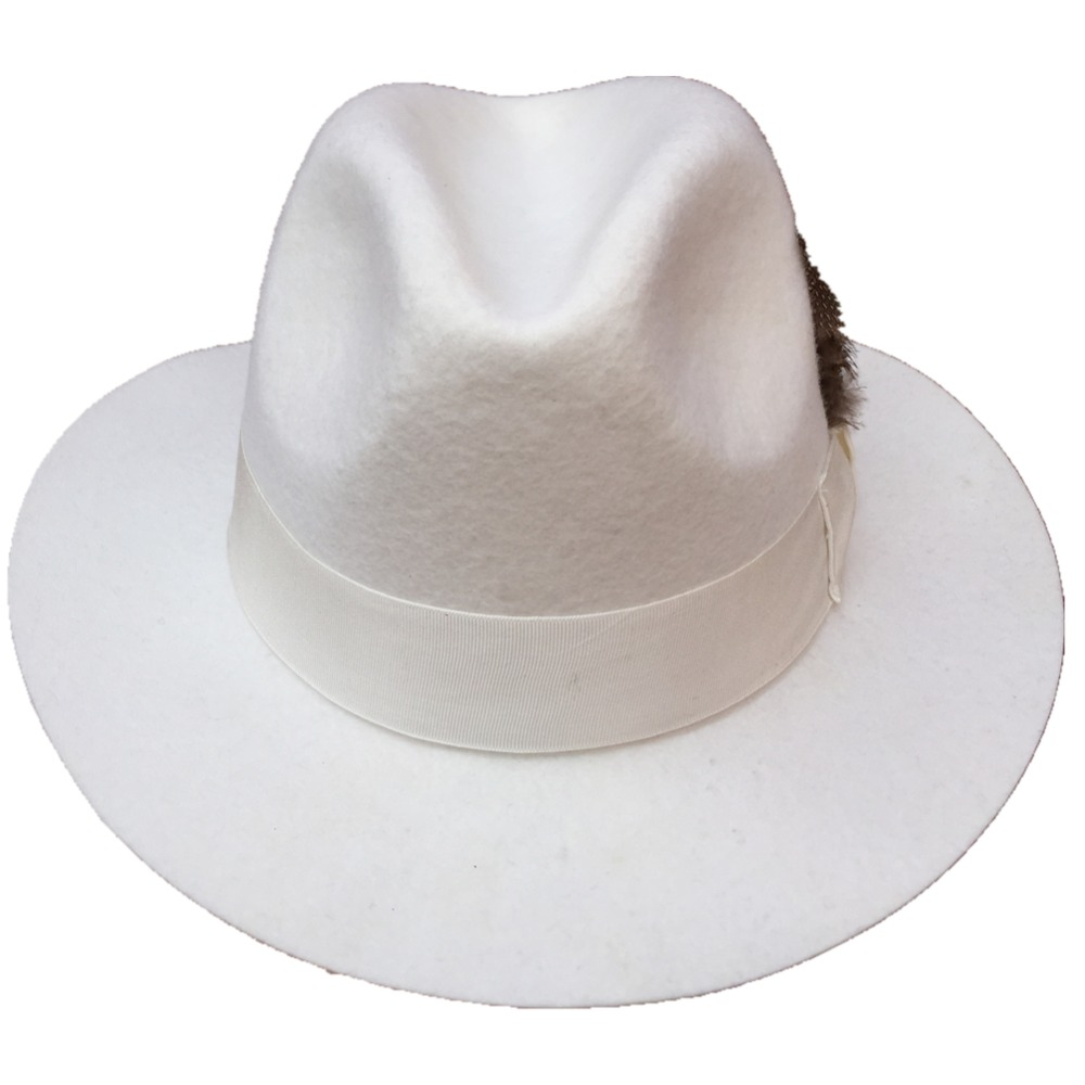 Classic White Men  s Wool Felt Fedora Hat Godfather Hat American Style-in  Fedoras from Apparel Accessories on Aliexpress.com  f5c5bf306