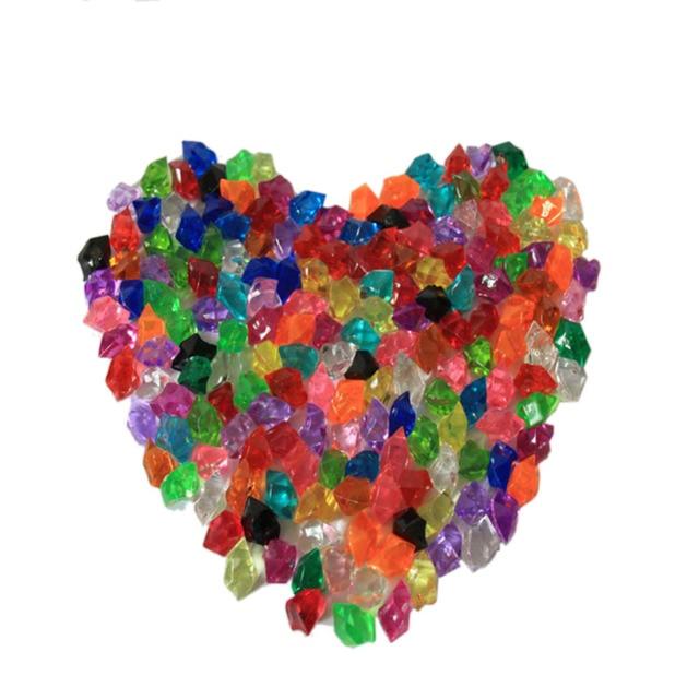 160 Pcs Pack Acrylic Crystal Stone Color Stone Plastic Transparent