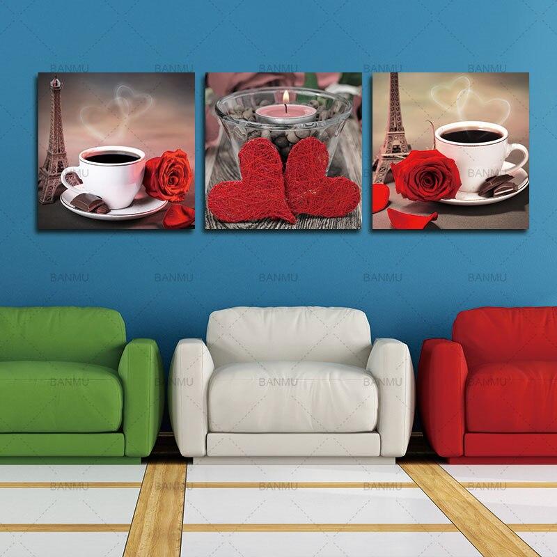 Платно за картини 3 части Модулни - Декор за дома - Снимка 5