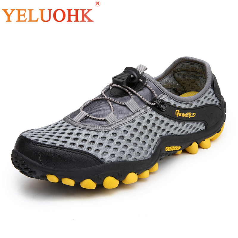 39-45 Casual čevlji Breathable Moški poletni čevlji Udobni Mesh - Moški čevlji