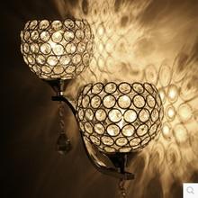 Краткое современный Кристалл двойной слайдер серебряный Настенное зеркало лампа/лестницы/местный номер свет Бесплатная доставка новое прибытие