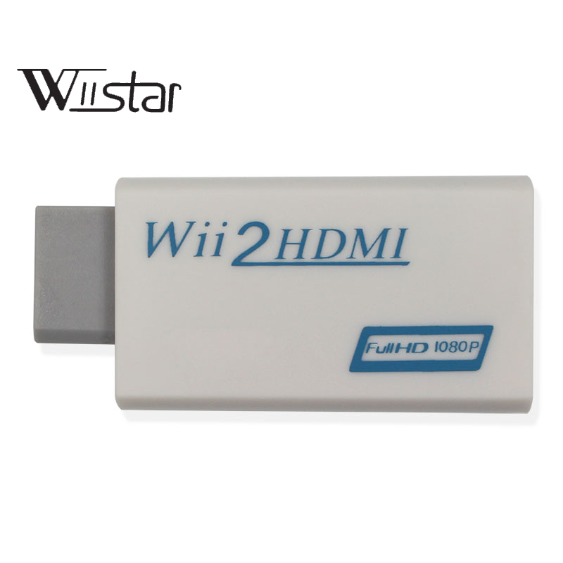 Купить с кэшбэком WII to HDMI Converter Adapter Full HD 1080P 720P Output WII2HDMI 3.5mm Audio Video Output for All Wii Display Modes 720P, NTS
