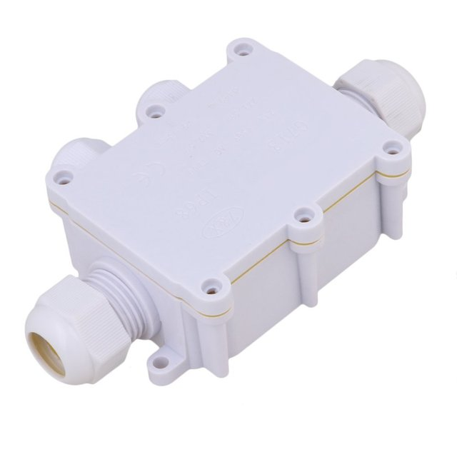white 4 way outdoor cable wire connectors junction box ip68 rh aliexpress com 4-Way Electrical Junction Boxes Terminals 4-Way Junction Box Wiring Diagram