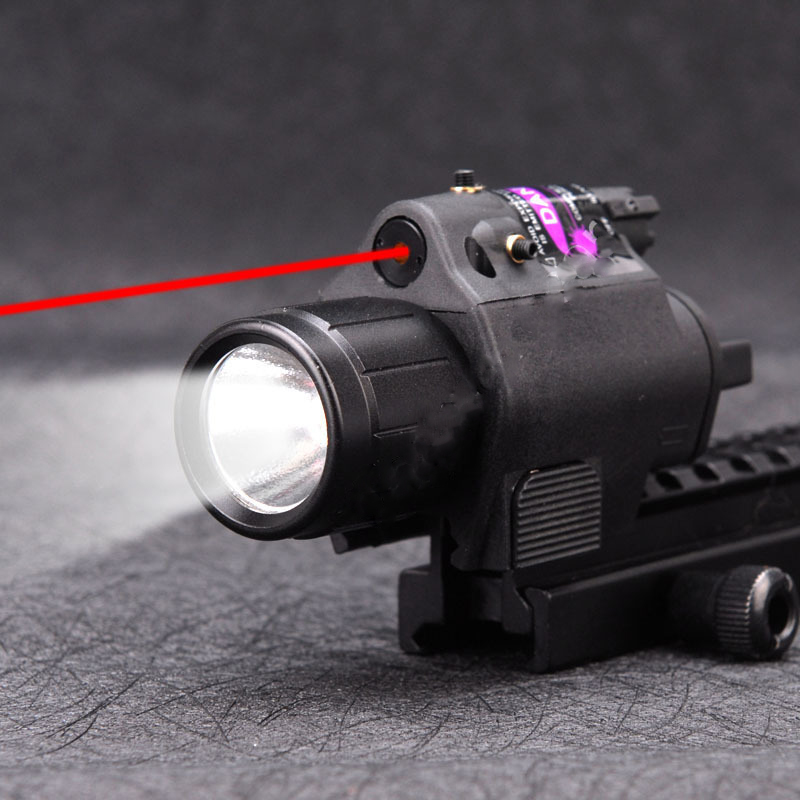 2 in 1 Tactical Flashlight Light+Red Laser Sight Dot Light Scope Combo for Pistols Shot Gun Camping Hunting Light2 in 1 Tactical Flashlight Light+Red Laser Sight Dot Light Scope Combo for Pistols Shot Gun Camping Hunting Light