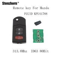 Stenzhorn 313 8Mhz Remote Key Fob For Mazda 6 2005 2006 2007 2008 For Mazda 2