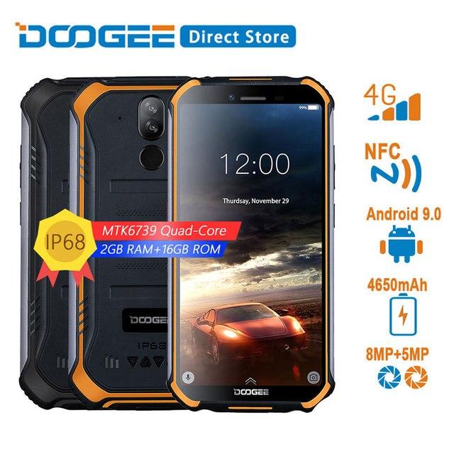 DOOGEE S40 4G רשת מוקשח נייד טלפון 5.5 אינץ תצוגת 4650 mAh MT6739 Quad Core 2 GB RAM 16 GB ROM אנדרואיד 9.0 8.0MP IP68/IP69K