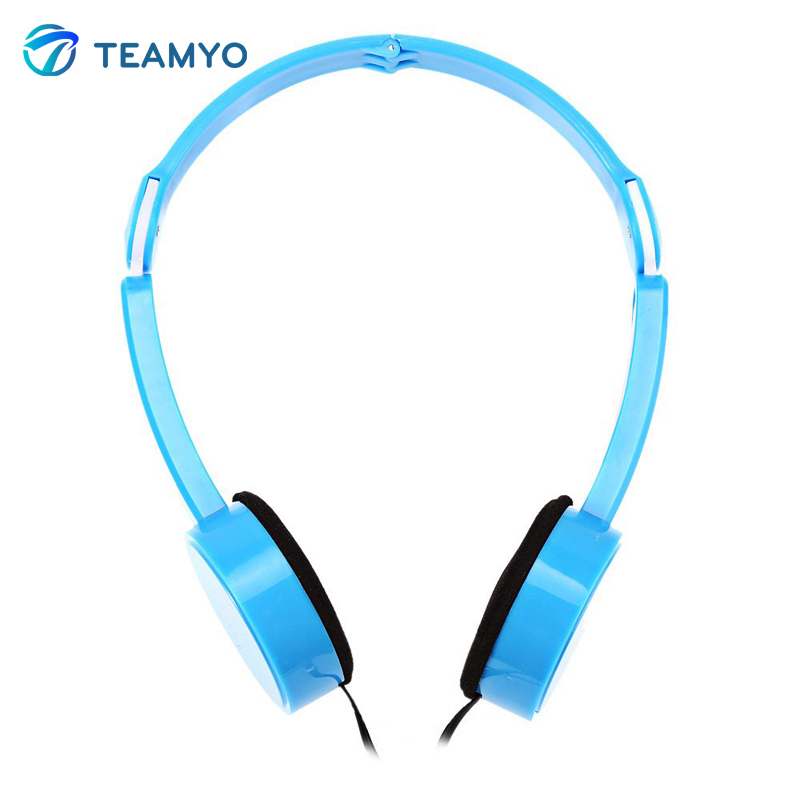 Teamyo Children Foldable Wired Headphones Lighter Headset Portable 3.5mm Earphone with Wire Control Microphone for MP3 MP4 cute cartoon for skeletons stars baymax foldable wired headwear headphones earphone headset durable random color
