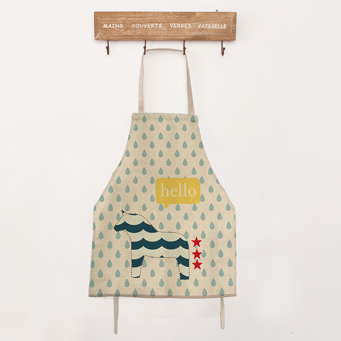 White apron specialty sandwiches - Top Quality Kitchen Apron Funny Cooking Dinner Apron Cute Carton Individuality Overalls Cleaning Protector China