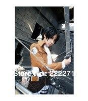 Японского аниме атака на Титанов Косплэй Микаса Акерман Костюмы для косплея Легион равномерное костюм 7 компл. куртка плащ рубашка шарф