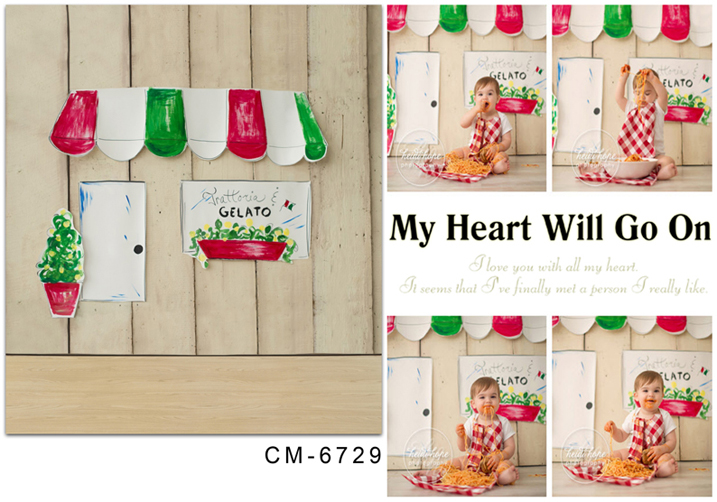 TR <font><b>10x20</b></font> <font><b>Backdrop</b></font> Kids Photography Background for Photo Studio Wood Wall Hand Painted <font><b>Backdrop</b></font> Custom Kid's Photos Baby Shoots image