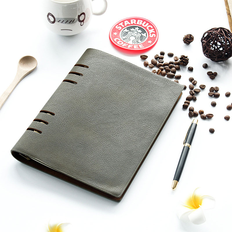 A5 High-end Notebook Leather Notebook Loose Book Travel Journal Handmade Notepad Vintage Diary School Supplies a5 secret diary book restoring vintage notepad high end notebook notebook agenda journal school office student stationery supply