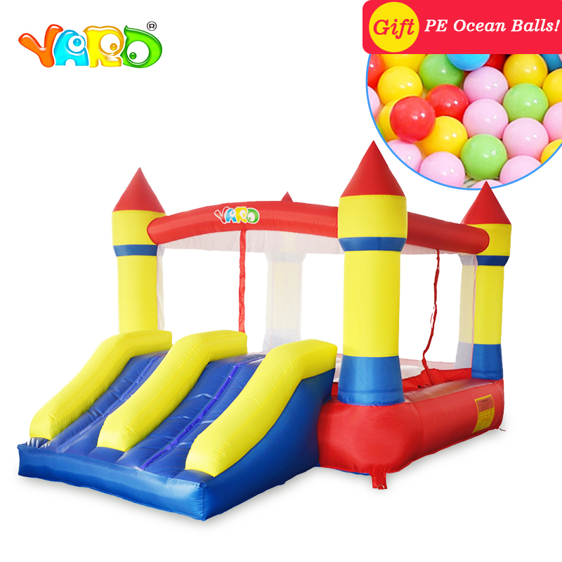 YARD Inflatable Bounce House with Double Slides with Blower for Party Outdoor Children Fun Land Inflatable Castle yard home used inflatable bouncer inflatable bounce house bouncy castle with double slides for children outdoor and indoor games