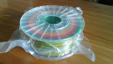 The transparent plate color mixed color 3D printer supplies a multicolor gradient PLA monofilament multicolor color