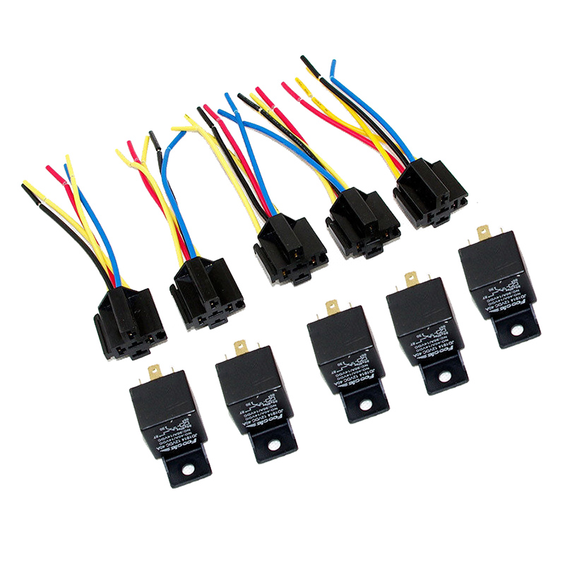 Lot10 new 12 volt 40 amp spdt automotive relay with wires harness lot5 new 12 volt 3040 amp spdt automotive relay with wires harness socket greentooth Choice Image