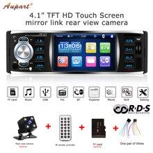 1 Din автомагнитола 4 «TFT сенсорный экран радио 1din стерео RDS Bluetooth аудио заднего вида камера Авто Зеркало Ссылка USB FM