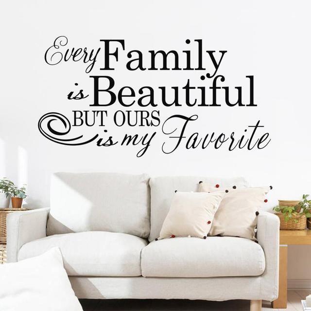 Familie Engels tekst patroon trouwzaal muurstickers slaapkamer ...