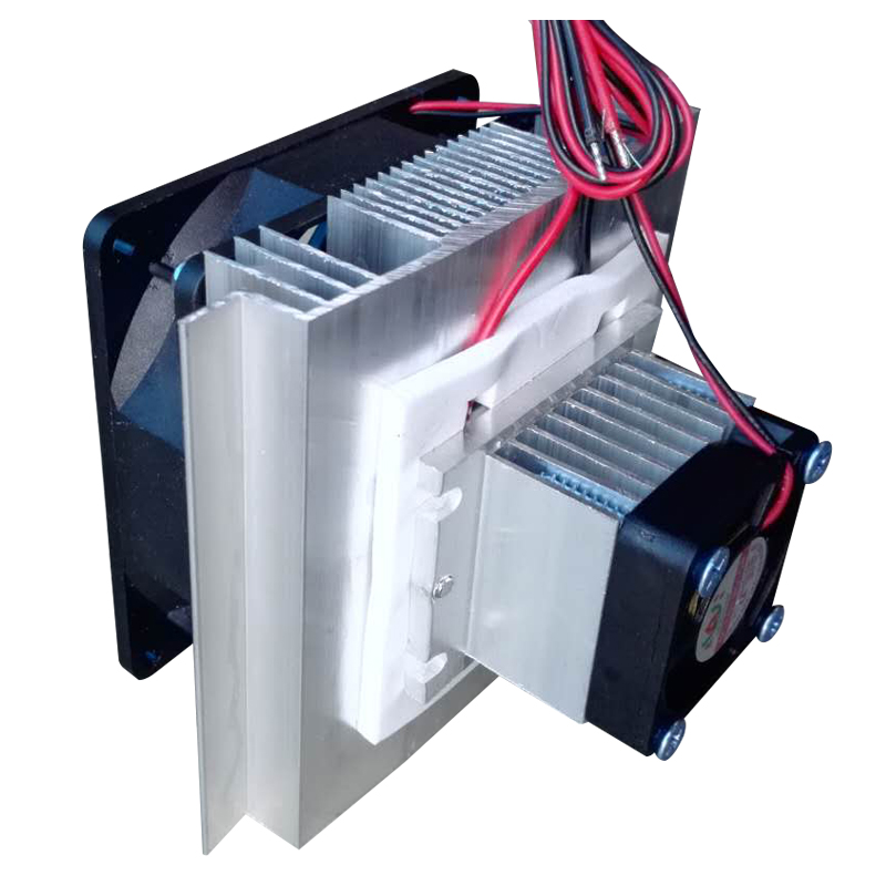 DIY DC12V 60W Semiconductor electronic Peltier chiller PC CPU auxiliary refrigeration Case Micro Air Conditioning semiconductor refrigeration unit 24v mini air conditioner small suite diy electronic chiller kit