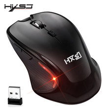 HXSJ new 2.4G wireless mouse usb mouse optical mouse gaming mouse for computer PC notebook accessories(China)