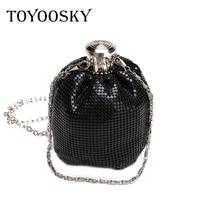 TOYOOSKY 2018 Hot Sale New Fashion Mini Women Chain Messenger Bags Sequin Perfume Bottle Ladies Evening