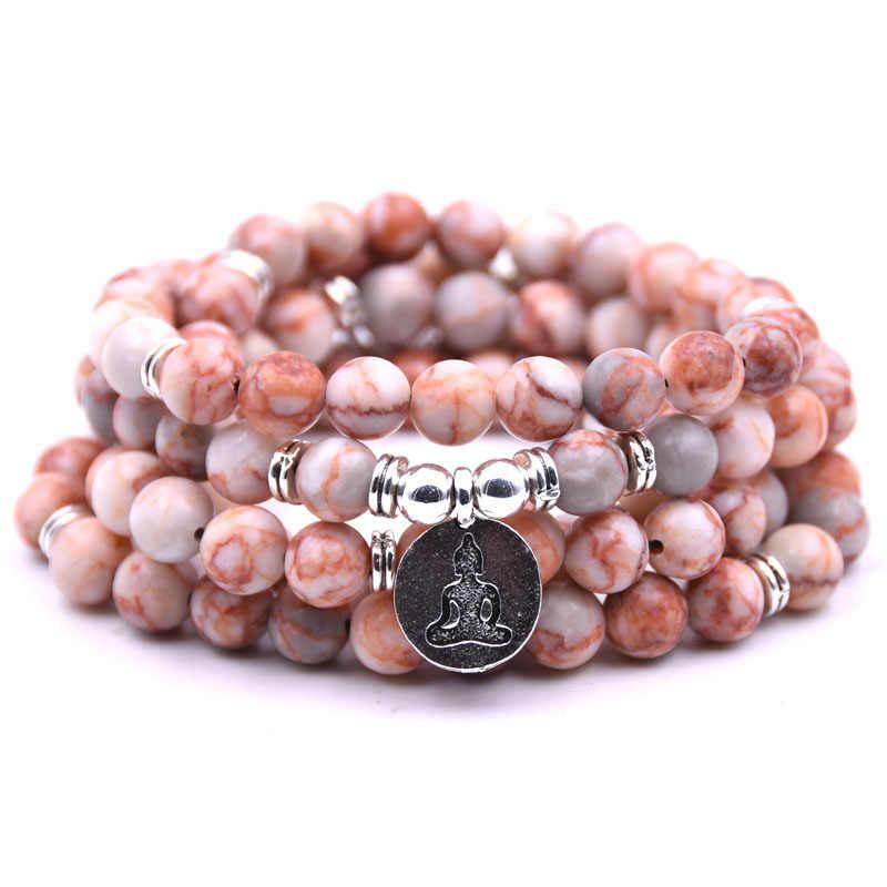 תכשיטי אופנה אבן טבעית 108 HONEYYIYI Mala בודהה פסל קסמי תליון צמיד שרשרת צמידים & צמידי גברים מתנות