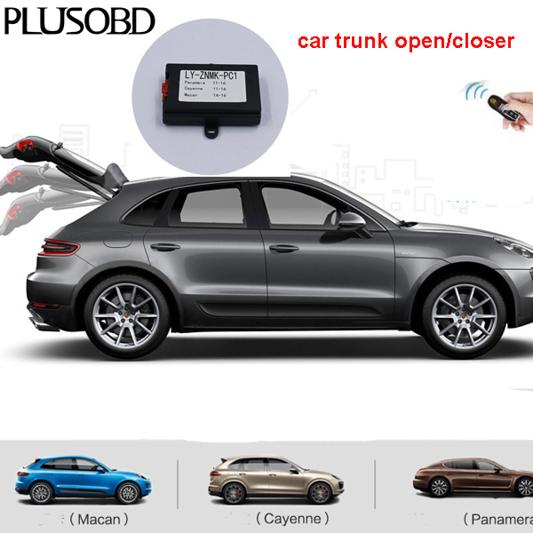 Car trunk closer/Close car window/Folding Rear Mirror and Close Sunroof fit for Porsche Cayenne/Panamera/Macan car by remote key