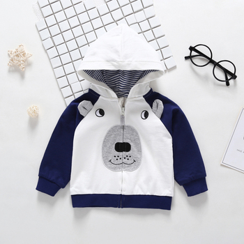 2019 Rushed New  Menino Autumn Winter Warm Baby Clothes Girls Sleeve Hoodies Boy Sweatshirt With Zipper Dot Outfits 1