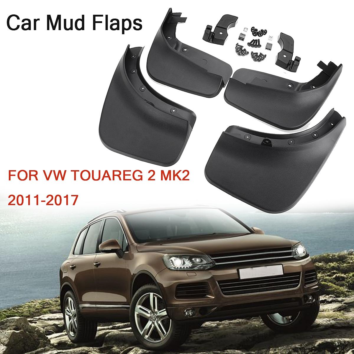 4 piezas para VW Touareg 2 Mk2 2011-2017 frente trasero guardabarros Mud Flaps guardabarros 2012 2013 2014 2015 2016