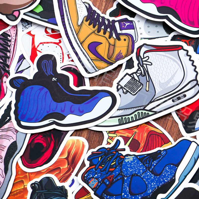 купить 100 Pcs Hot Sale Kids Sticker Funny Fashion Graffiti Sticker Shoes Small Stickers Anime Laptop Skateboard Notebook Decal онлайн