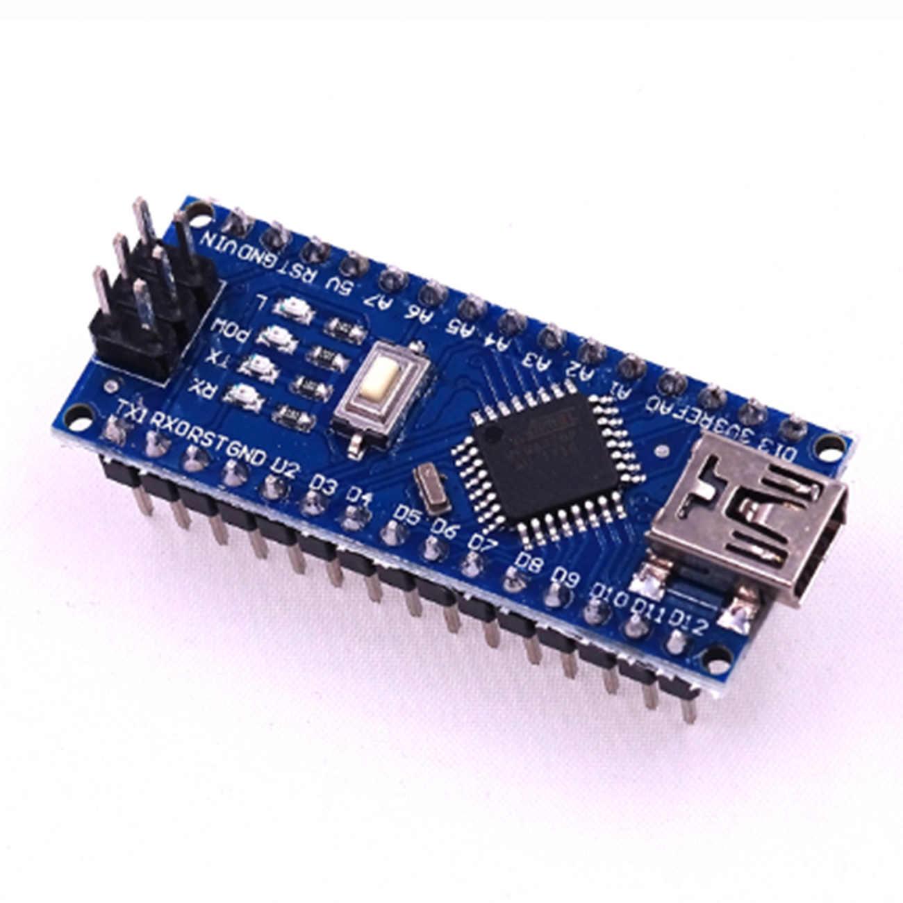 10 pièces Mini USB avec Nano 3.0 chargeur de démarrage Compatible contrôleur pour Arduino CH340 USB pilote 16MHz Nano V3.0 atmega328p