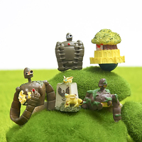 5 pçs/lote Studio Ghibli Hayao Miyazaki Laputa Castle In The Sky Robô Mini Figuras de Ação PVC Brinquedos Figura Coleção Modelo brinquedo